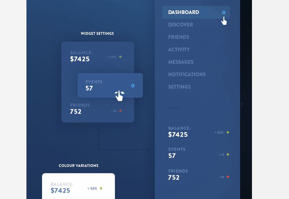 Kit de interfaz de usuario gratuito de Eventray