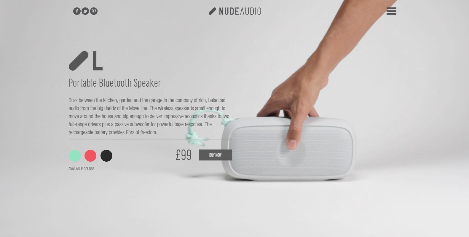Nude Audio video na pozadí