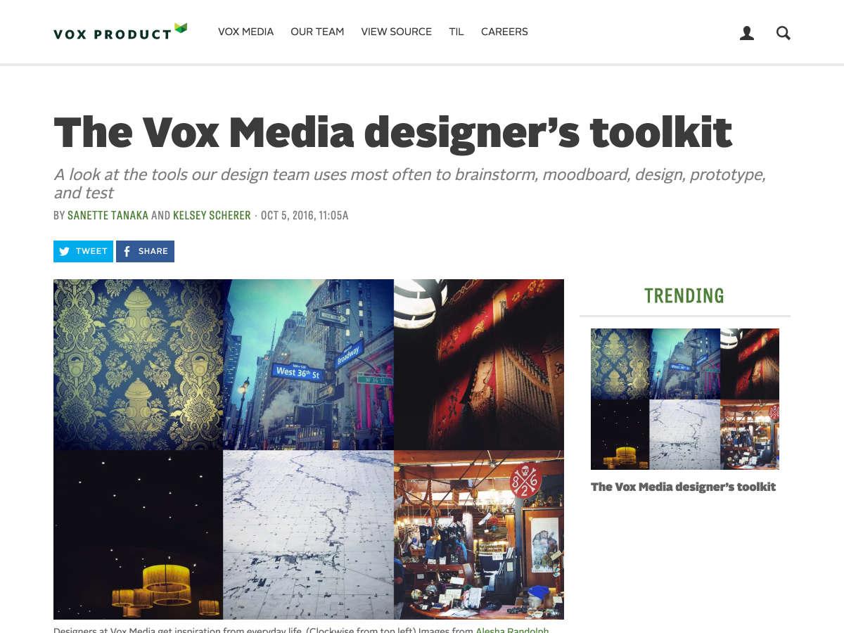 kit de herramientas del diseñador de medios vox