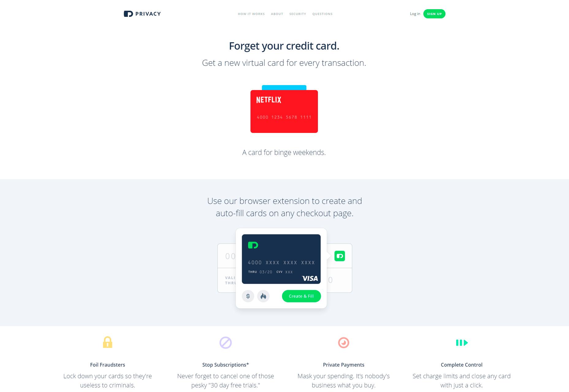 Privacidad: sus tarjetas de crédito en el navegador