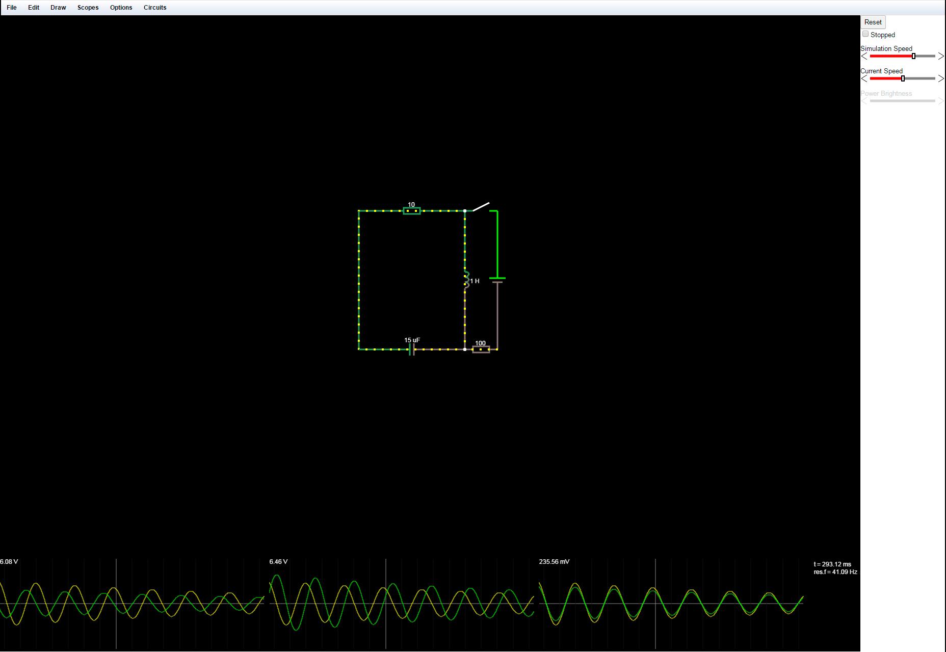 Circuit.js: Simulador de Circuito Electrónico InBrowser