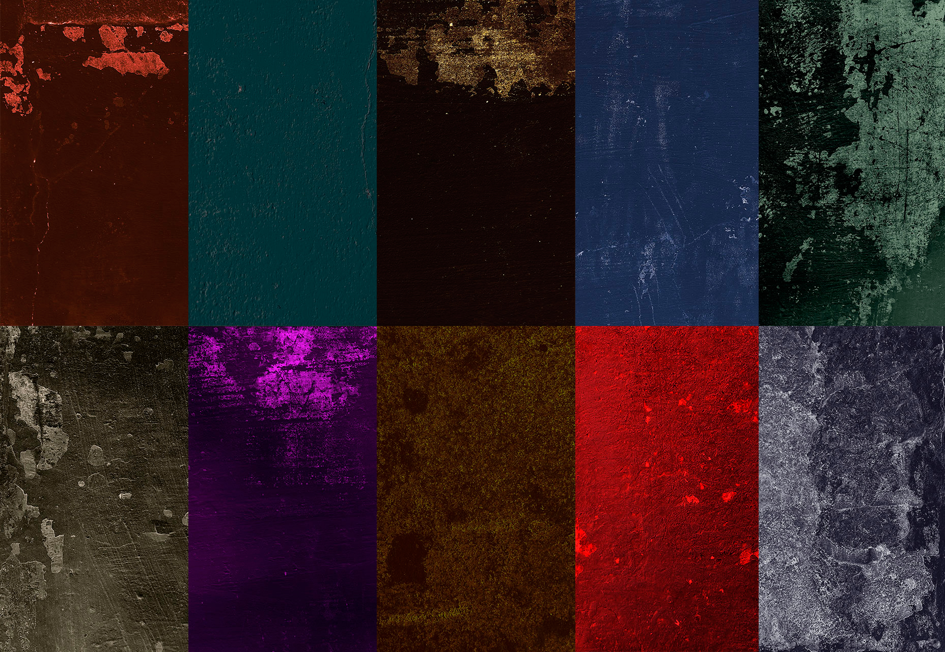 Dramatisk Farge Grunge Textures Pack
