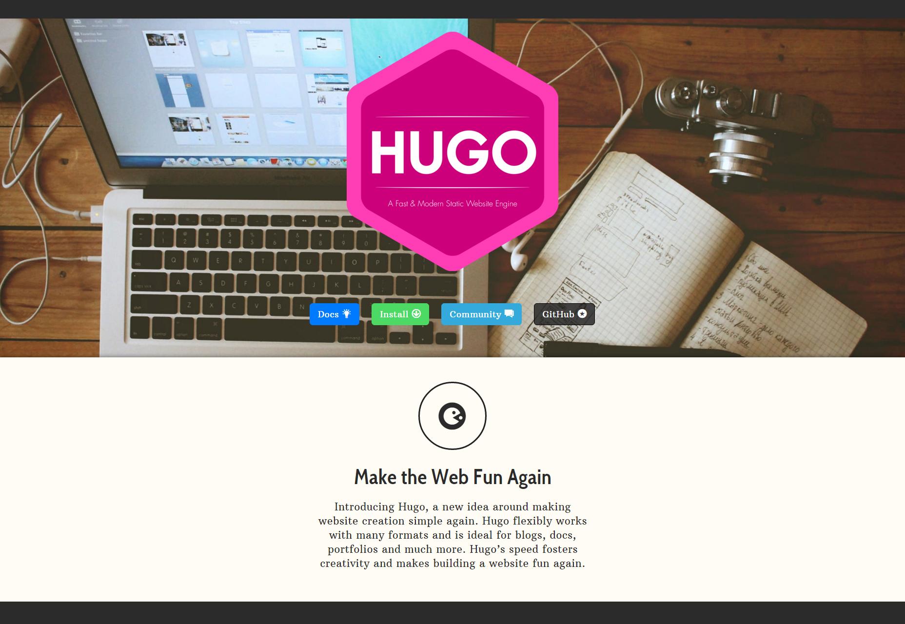 Hugo: un motor de sitio web estático rápido y moderno