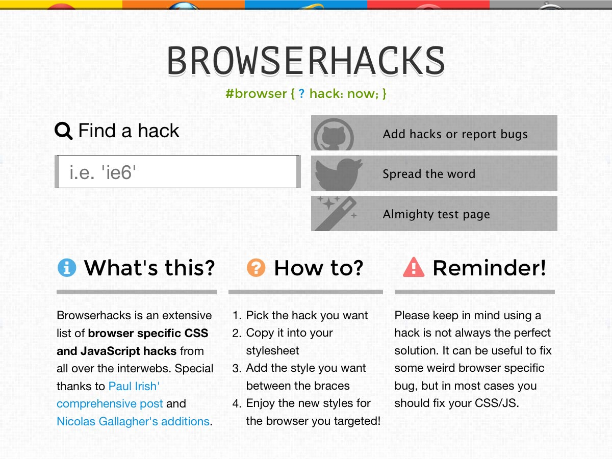 browserhacks
