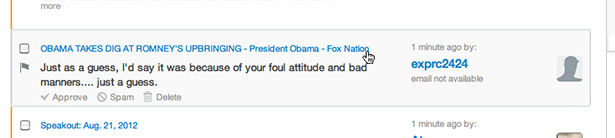 Fox comment
