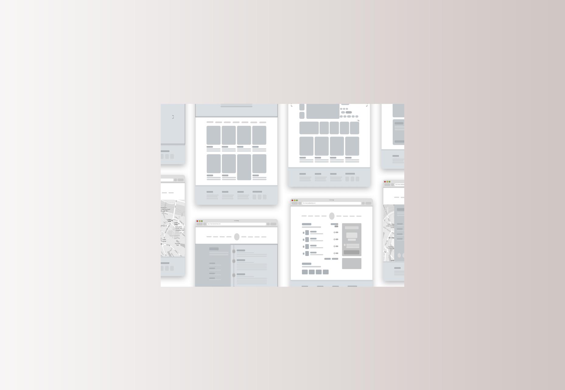 Simple Shapes Wireframe voor Sketch