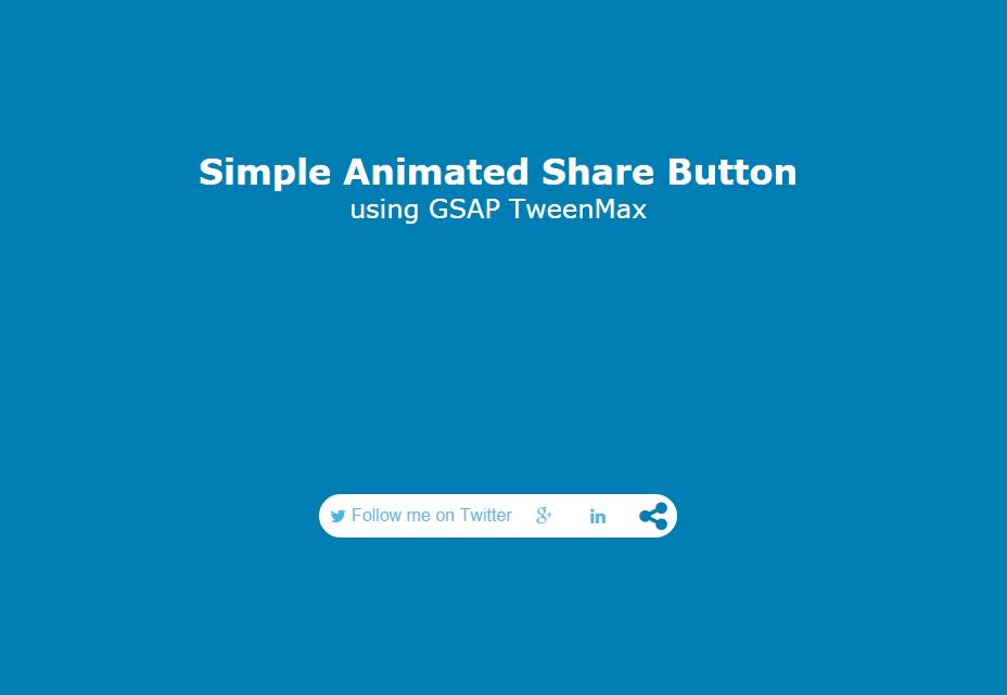Botón de compartir animado