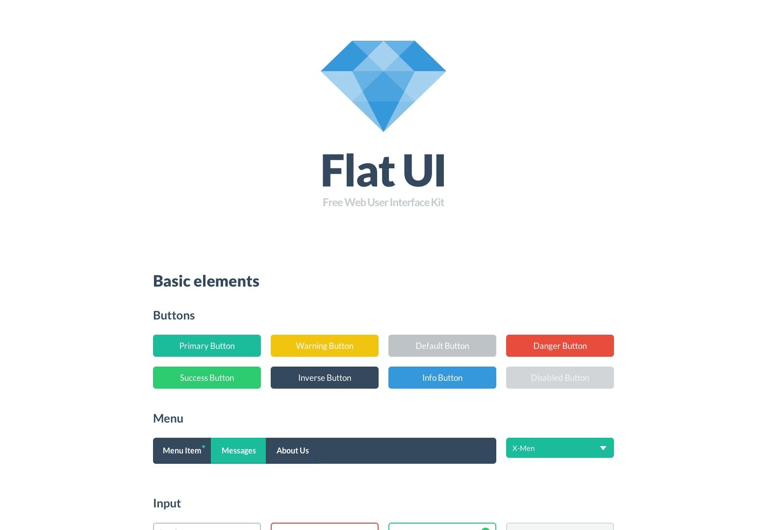 Flat UI Kit - návrhový rámec HTML / PSD