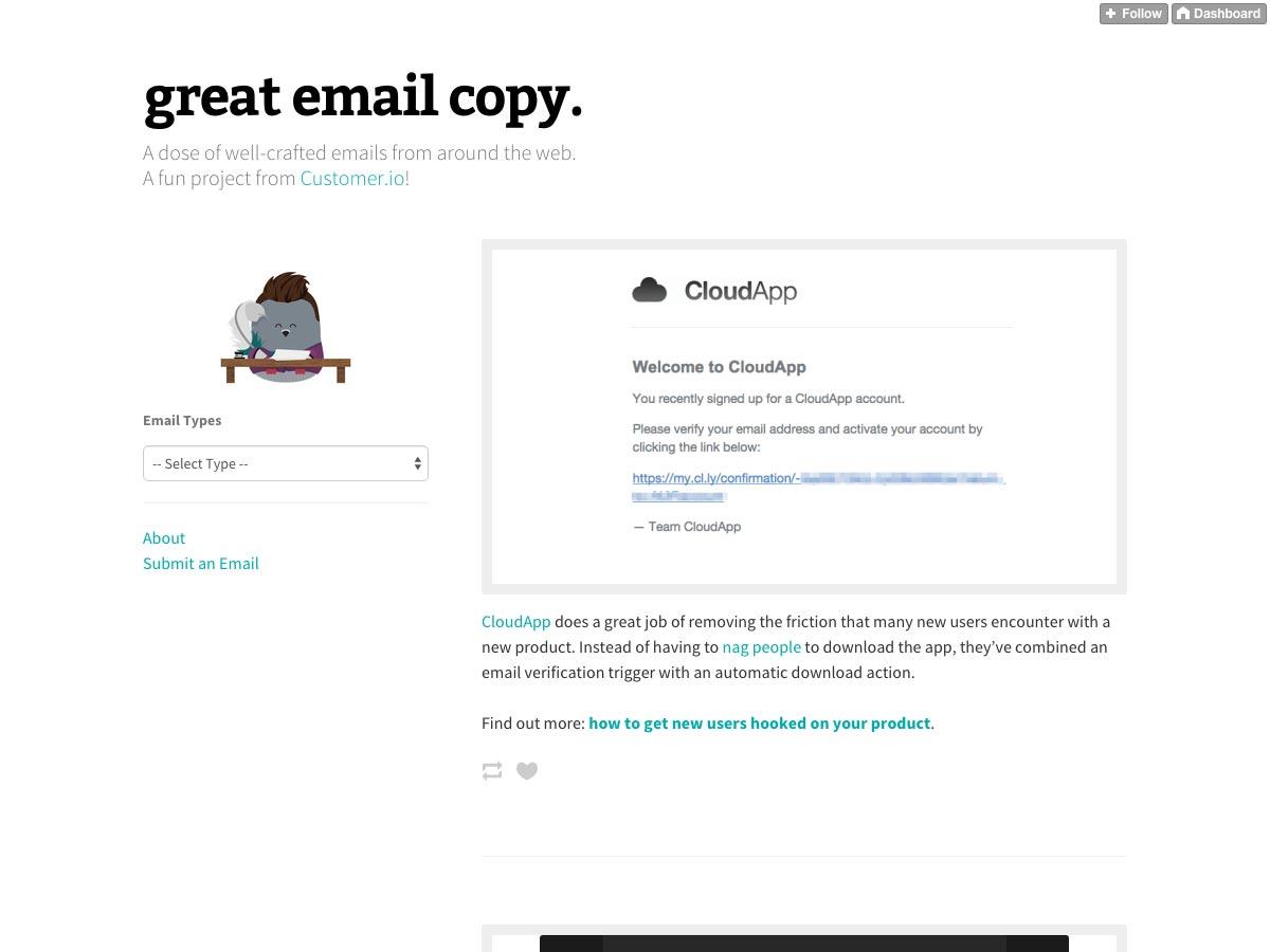 Geweldige e-mail kopiëren