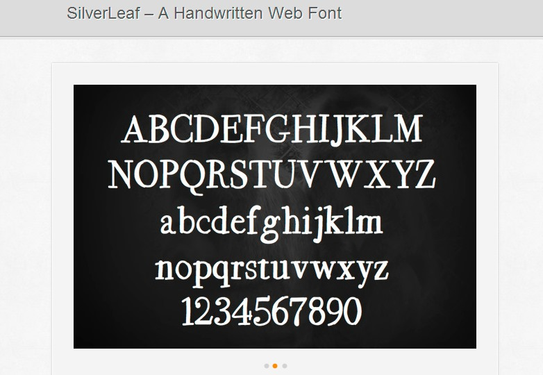 silverleaf font