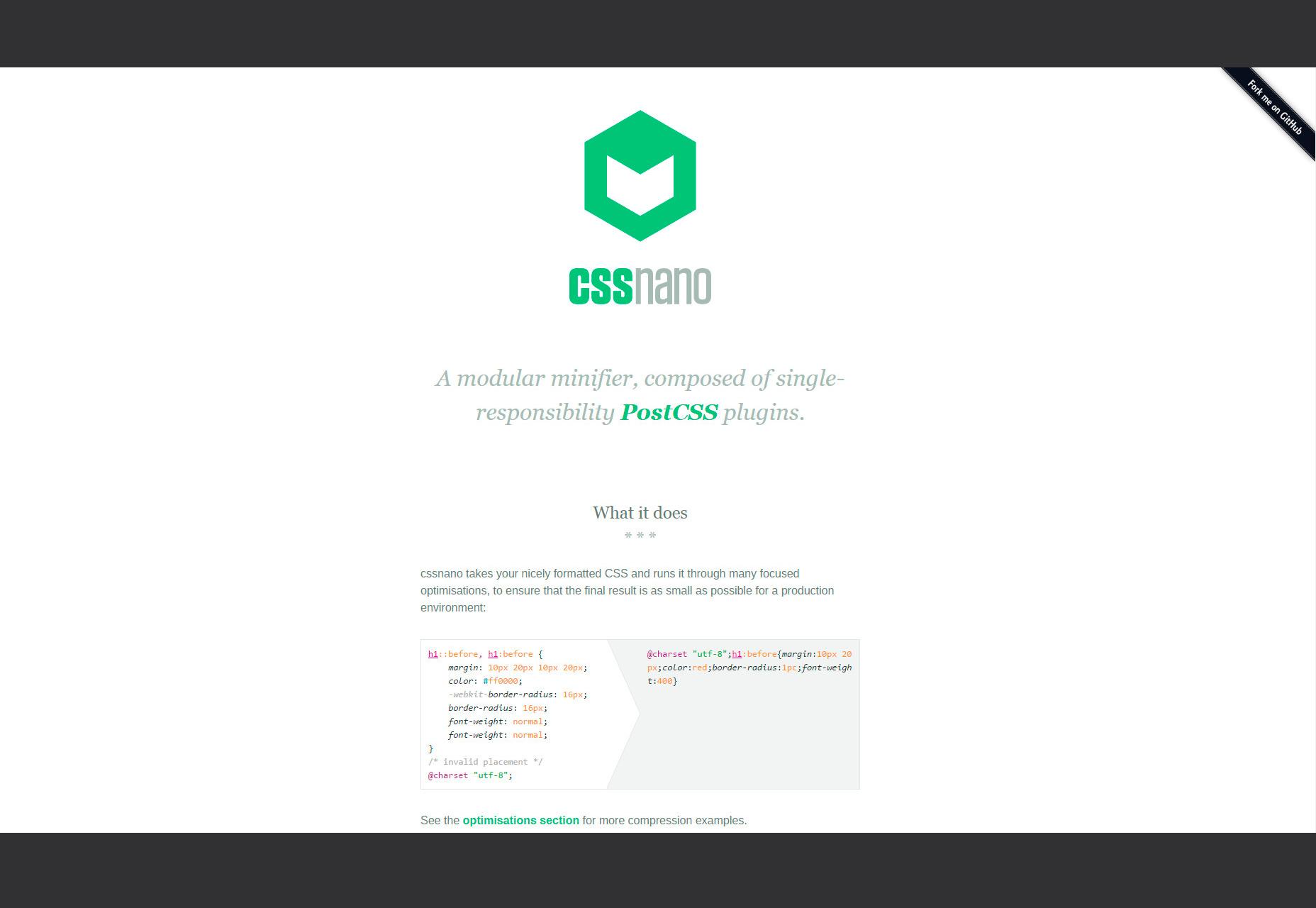 Cssnano: Minificador modular basado en PostCSS